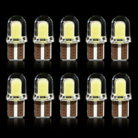 10PCS Bright White T10 194 168 W5W COB 8SMD LED CANBUS Silica License Light Bulb
