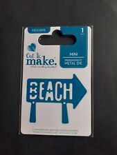 BRAND NEW  ___MINI DIE CUTTER  SIGNPOST WITH WORDS  BEACH