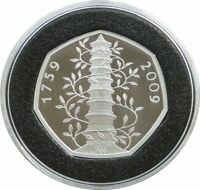 2019 Kew Gardens 260th Anniversary Pagoda 50p Fifty Pence Silver Proof Coin