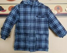 CRAZY 8 Boys Blue Checkered hooded Winter Jacket Size XS 4