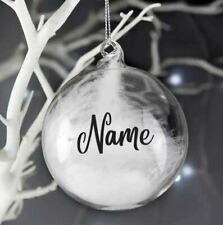 Christmas Bauble Vinyl Decal Sticker Teacher Santa Gifts Name Personalised Craft