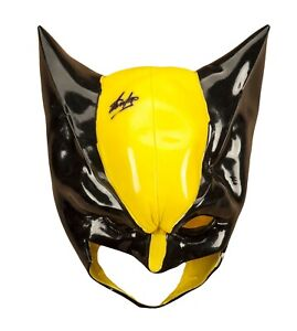 Deluxe Batman Mask Costume Outfit Latex Adults Fancy Dress Theme Party Cosplay