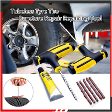 Car Tubeless Tire Puncture Repair Plug Repairing Kits Needle Patch Fix Tool U