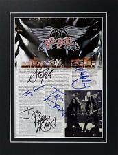 **AEROSMITH X5 SIGNED MATTED PHOTO AUTHENTIC AUTOGRAPH TYLER PERRY ROCK BLUES**