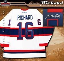 HENRI RICHARD Signed Montreal Canadiens White CCM Alternate Jersey