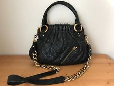 $1295 Marc Jacobs black quilted Gold-tone hardware handbag Cross-body