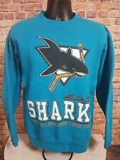 Vintage San Jose Sharks NHL Ice Hockey Crewneck Sweatshirt Mens Sz XL Teal 90s