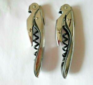 Lot of 2 Silver Tone Koala, Folding Corkscrew / Bottle Opener / Foil Cutter