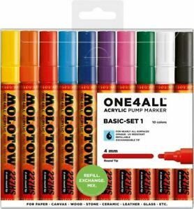 Molotow ONE4ALL Acrylic Paint Markers Various Sets Sizes and Colors