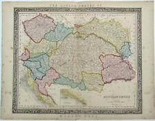 Antique Map Austrian Empire c1840 Hungary Bohemia Moravia Betts London Series