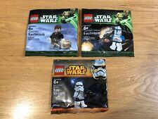 🔹 Sellado/x 3 🔹 Lego Star Wars Minifigura polybags Paquete Colección 🔹 exclusivo 🔹