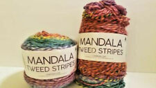 "2 Mandala tweed stripes ""Rainbow"" color 202 grade 4 medium yarn"