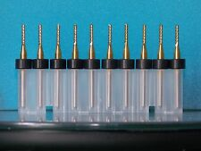 1.6MM CARBIDE COATED PCB ROUTER, ENDMILL, BRAND NEW, DIAMOND TEETH, W/ RING,10x