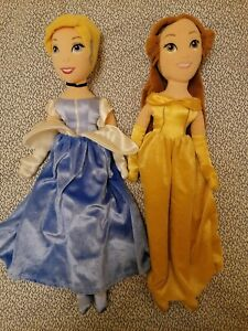 Disney store plush dolls - Cinderella and Belle