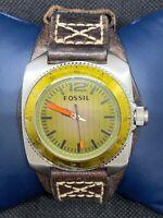 Fossil WB1043 Men's Watch Stainless Steel Case Bezel Analog Quartz Round O457