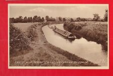 Bedfordshire, The grand union Canal, Leighton Buzzard.  Canal Postcard..