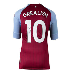 Jack Grealish Signed Aston Villa Shirt - 2020-21, Number 10 Autograph Jersey