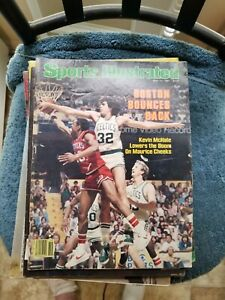 5/11/81 SPORTS ILLUSTRATED WITH CELTICS LARRY BIRD-KEVIN MCHALE   GROBEE1957