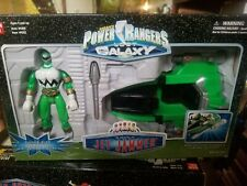 1998 Power Rangers Lost Galaxy Green Jet Jammer With Green Ranger  Bandai in box