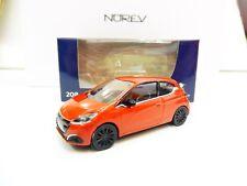 "Peugeot 208 3 Portes Mi-Vie 2015 Orange 1/64 ""3 Inches"" NOREV Produit Neuf"