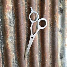 Signo de metal acero barberos Tijeras cerrar Tienda Peluquería Peluquería Peluqueros