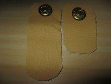 Hosenbund-Erweiterung, Gold-Knopf-Verschluss-Einsatz, Leder Beige
