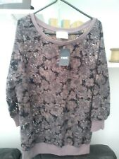 Ladies BNWT Very Trendy Pink Floral Lace Next Top Size 10 - Must See