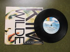 "KIM WILDE never trust a stranger 1988 UK 7"" vinyle single en photo Manche"