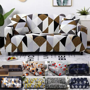 Printed Sofa Covers -Stretch Sectional Couch Slipcovers Home Furniture Protector