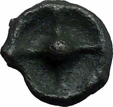 ISTROS Thrace 500BC Wheel Money Authentic Ancient Greek Coin BLACK SEA i48205