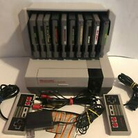 NES Nintendo Console NES-001 Vintage w/Cords 2 Controllers and Games Ships FAST