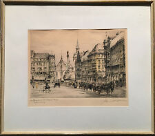 Paul Geissler (German) - Signed Etching - Marienplatz, Munich - 1920