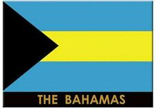 Bahamas Flag Caribbean Fridge Collector's Souvenir Magnet 2.5