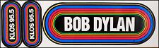 Bob Dylan Vintage 80's KLOS Rainbow Concert Bumper Stickers LA Radio
