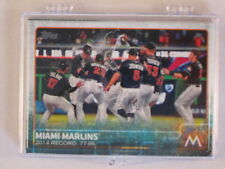 2015 Topps Series 1, 2 and Update Complete Baseball Team Set - Miami Marlins