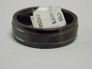 Triton Titanium Men's Wedding Bands with Side Gold Line Designs 7mm Wide