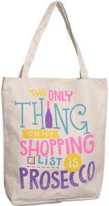 Prosecco Canvas Shopping Bag