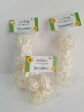Rattan Wicker Balls 10ct white for Home Decor, Weddings, Crafts, Floral