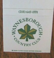 GOLF: WAYNESBOROUGH COUNTRY CLUB (PAOLI, PENNSYLVANIA) (MATCHBOOK) -F11