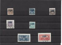 Schleswig 1920, Auswahl aus MiNrn: 1, 7 PF 1, 15 - 20, 21 - 28, gestempelt o