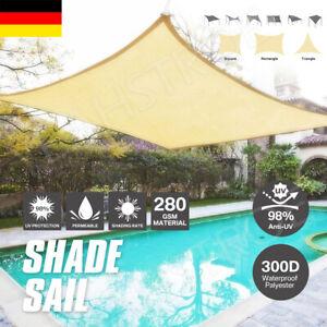 Sonnensegel WASSERDICHT Sonnenschutz Windschutz 98% UV-Schutz Dreieck Rechteck