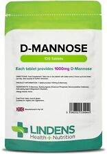 D-Mannose (dmannose) 1000mg (120 tablets) urinary health [Lindens 4944]