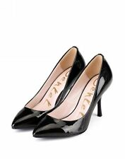 Genkek Shoes Chloe Women Heel Glossy Black Size 6 37EU - Brand New in Box