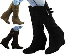 Faux Suede Platforms & Wedges Boots for Women