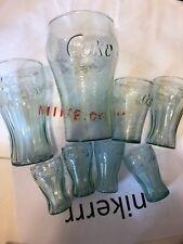 LOT OF 8 COKE GLASSES ASSORTED VINTAGE RARE COLLECTIBLE COCA BRAND NEW COLA