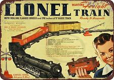 1942 Lionel Wartime Freight Train Vintage Reproduction Metal Sign 8 x 12