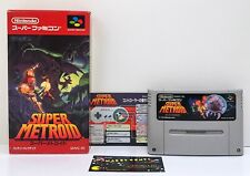 SUPER METROID (SNES Nintendo Super Famicom) Boxed Japan Import JP - US Seller