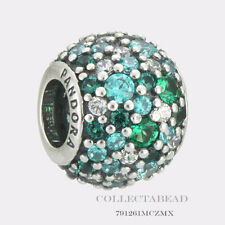 Authentic Pandora Silver Ocean Mosaic Pave Bead  791261MCZMX *LAST ONE