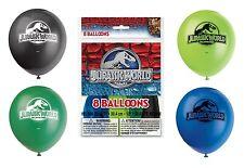JURASSIC world - 8 ballons de latex-Décorations de fête d'anniversaire (dinosaures / parc)