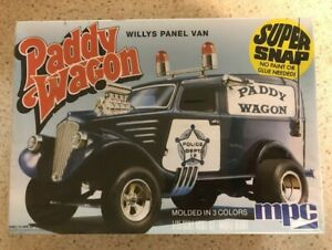 MPC Paddy Wagon-Willy's Panel Van 1:25 Scale Snap together Model Kit-New in Box